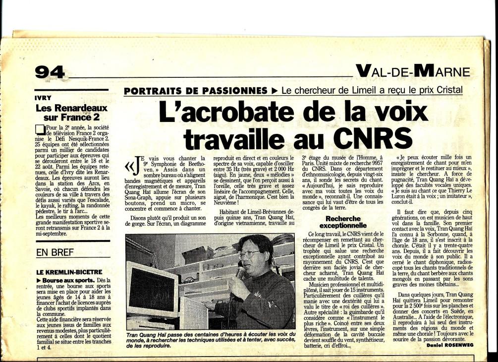 tqh cristal cnrs 1996 LE PARISIEN 16.07.1996.jpg
